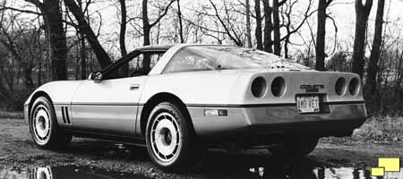 1985 Corvette: Official GM photograph
