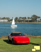 1991 Corvette Convertible in Red