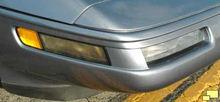 1991 Corvette front turn signal - auxilliary lamp - cornering light - side marker light area