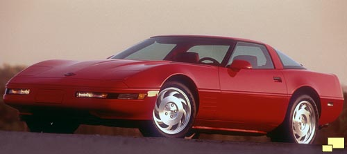 1993 Chevrolet Corvette, Color: Bright Red