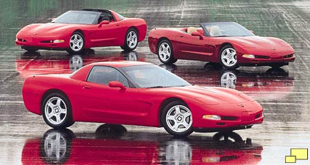1999 Corvette lineup Official GM photograph