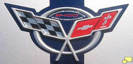 2004 Corvette Commemorative Edition hood emblem