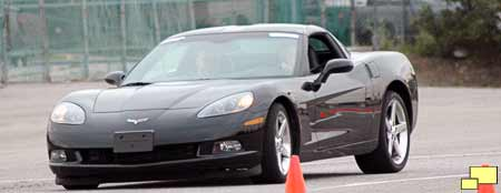 2005 Corvette on autocross course