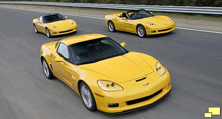 2006 Corvette Z06, convertible and coupe