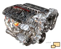 2008 Corvette LS3 engine David Kimble cutaway illustration