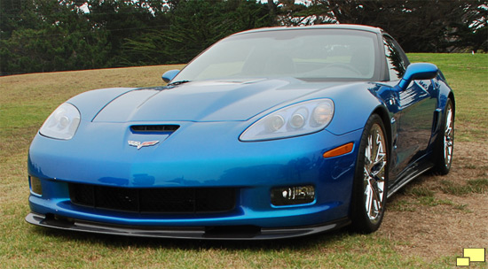 2009 Chevrolet Corvette ZR1 in Jetstream Blue