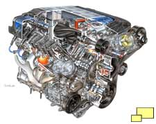 Corvette ZR1 LS9 Engine Exposed David Kimble illustration
