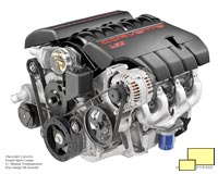 2010 Corvette Grand Sport LS3 engine with manual transmission and dry sump oil system