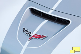 2013 Chevrolet Corvette 60th anniversary nose emblem