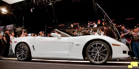 Barrett-Jackson auction of 2013 Chevrolet Corvette convertible with 427 cubic inch motor