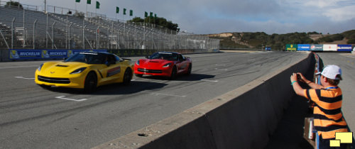 2014 Corvette C7 Demonstration Laps at Laguna Seca Racetrack with Young Photographer