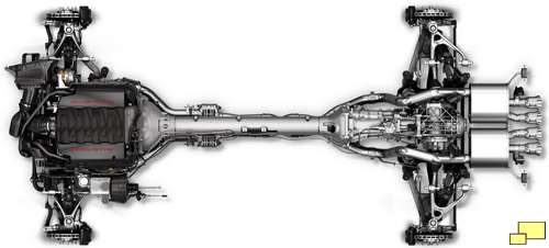 2014 Chevrolet Corvette C7 Chassis, overhead view