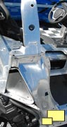 2014 Corvette chassis rear door area