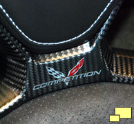 2014 Chevrolet Corvette C7 competition seat carbon fiber detail