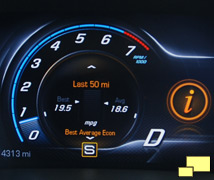 2014 Corvette fuel economy display