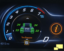 2014 Corvette tire pressure display
