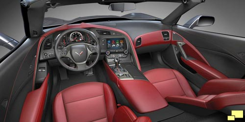 2014 Chevrolet Corvette Interior: Adrenaline Red