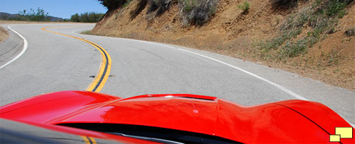 2014 Corvette on Mulholland Highway