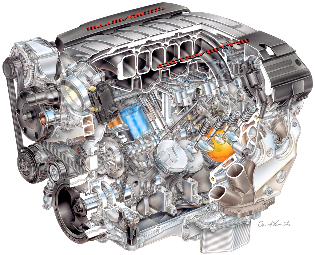 2014 Corvette C7 Lt1 Engine With Direct Injection