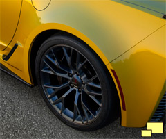 2015 Chevrolet Corvette Z06 rear fender