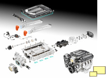 2015 Chevrolet Corvette Z06 LT4 engine exploded view