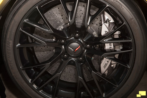 Brembo carbon ceramic-matrix brake rotors are part of the Z07 Performance Package