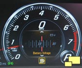 2016 Chevrolet Corvette Battery Voltage Gauge