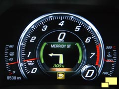 2016 Chevrolet Corvette C7 Driver Information Center Navigation