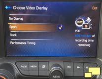 2016 Chevrolet Corvette Performance Data Recorder Selection