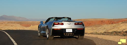 2016 Corvette C7 Convertible in Blade Silver Metallic - Rear View