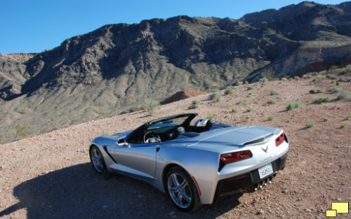 2016 Corvette C7 Convertible in Blade Sliver at the Valley of Fire State Park, Nevada
