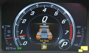 2016 Chevrolet Corvette C7 Tire Temperature Gauge