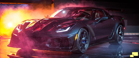 2019 Chevrolet Corvette ZR1 Convertible Press Reveal Los Angeles November 28,2017