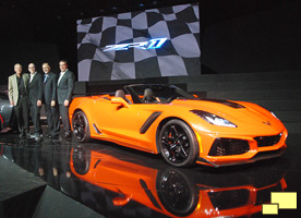 2019 Chevrolet Corvette ZR1 Convertible Press Reveal November 28,2017