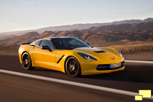 Chevrolet Corvette C7 Stingray Coupe in Velocity Yellow