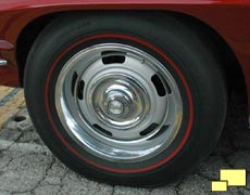 1967 Chevrolet Corvette Stingray Rally Wheel with Redline Tires