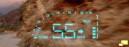 1999 Corvette C5 Heads Up Display Introduced