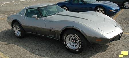 1978 Corvette with special 1978 only two tone silver paint