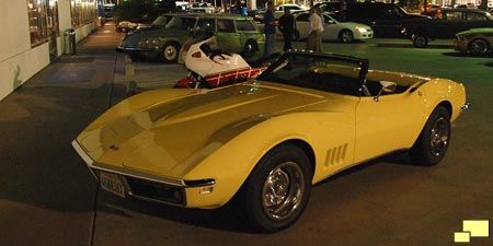 1968 Corvette in Safari Yellow at Car Night