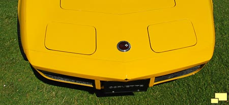 1973 Corvette front bumper, first year for the non-chrome treatment