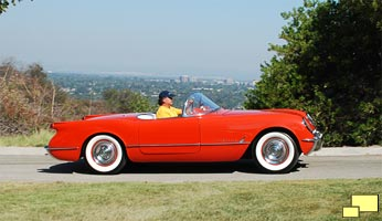 1955 Corvette in Gypsy Red