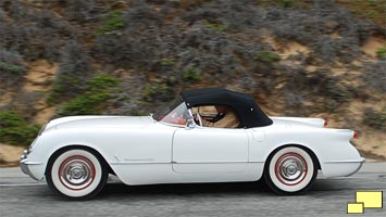 Last 1953 Corvette on Pacific Coast Highway