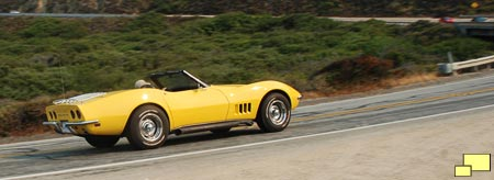 1968 Corvette is at home on Highway 1 in Big Sur California