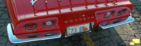 1973 Corvette rear bumper was the same as 1968 through 1972