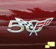 2003 Corvette 50th anniversary fender badge