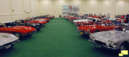 C2 and 1962 C1 Corvettes on display at 2012 NCRS National Convention in San Diego CA
