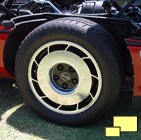 1984, 1985 Corvettes featured black wheel centers