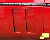 Twin side vents on 1984 through 1990 Corvettes