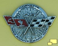 25th anniversary Corvette hood emblem; exclusive for 1978