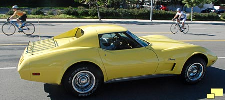 1974 Corvette, the first year for front and rear chrome bumpers